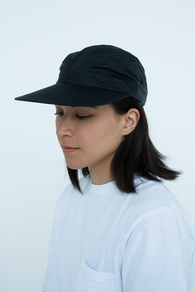 Big Bill Cap - Black Taffeta - paa