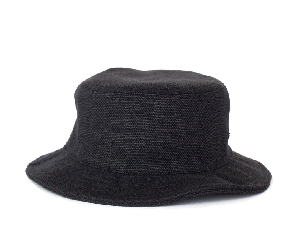 Linen Bucket Hat - Black