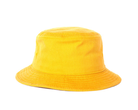 Peach Face Bucket Hat - Yellow