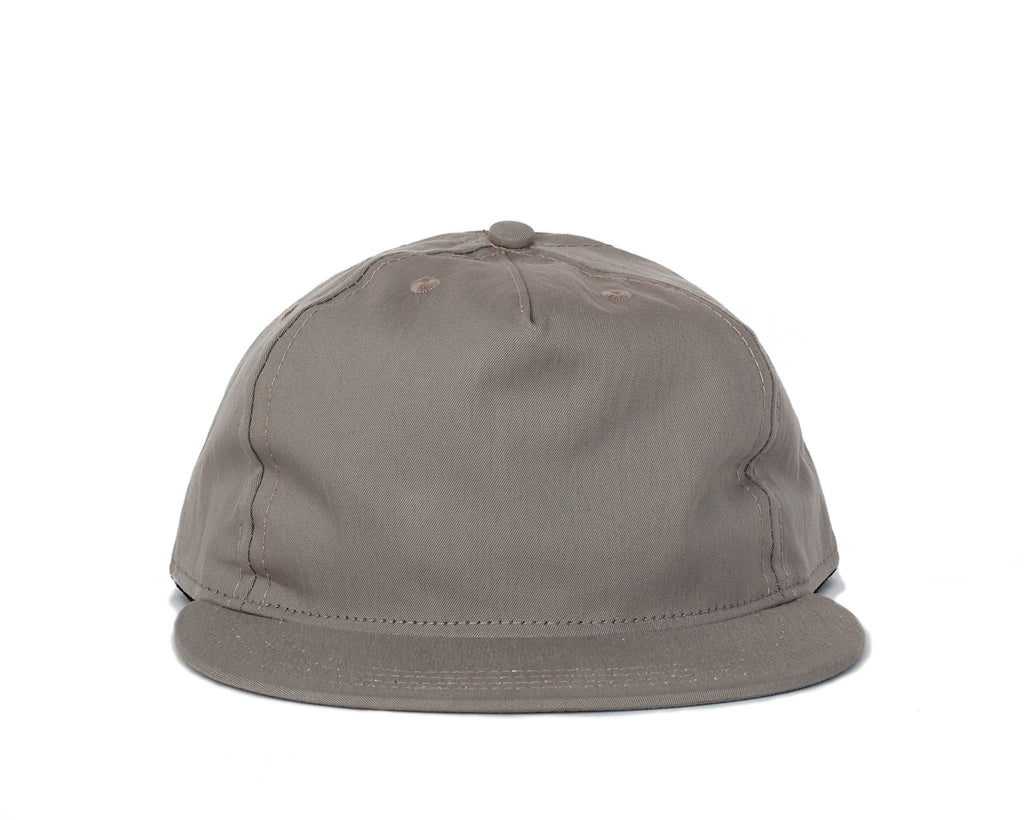 Peach Face Pleat Cap - Grey