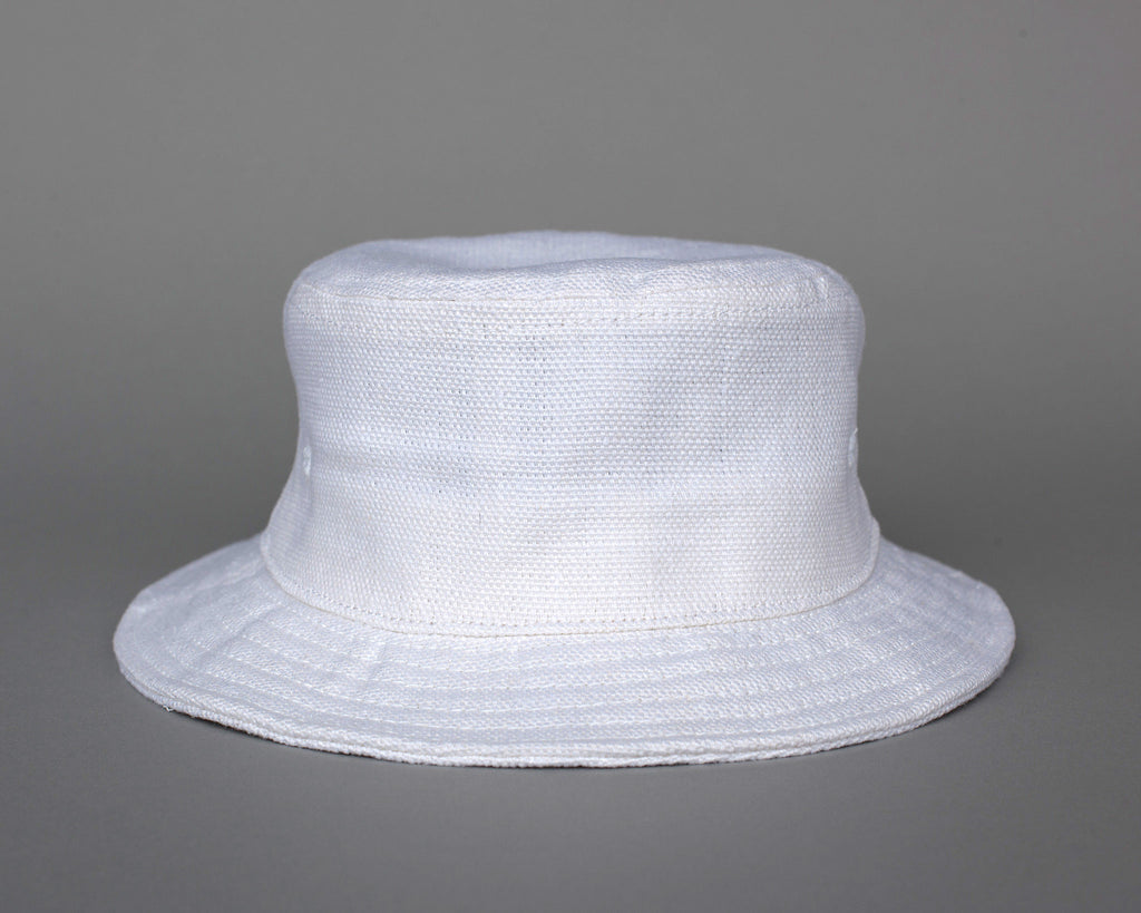 Linen Bucket Hat - White