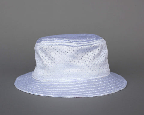 Jersey Mesh Bucket Hat - White