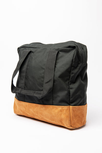 Box Tote - Black / Toast Suede