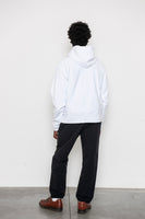 Hooded Pullover Sweatshirt - White
