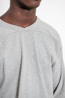 LS Football Tee - Heather Grey