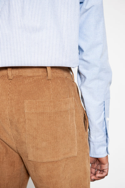 Double Pleat Pant - Caramel