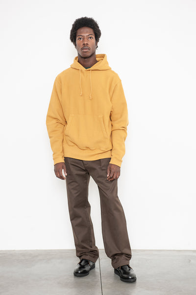 Hooded Pullover Sweatshirt - Mustard