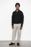 Knit Polo Sweater - Black