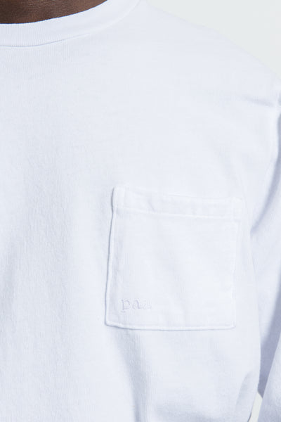 paa - LS Pocket Tee - White Embroidery