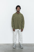 paa - LS Popover Shirt Two - Olio Polar Fleece
