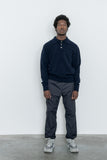 paa - Knit Polo Sweater - Navy Merino