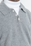 paa - Knit Polo Sweater - Heather Grey Merino