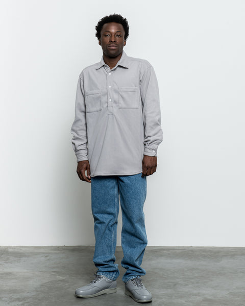 LS Popover Shirt Two - Grey Polar Fleece