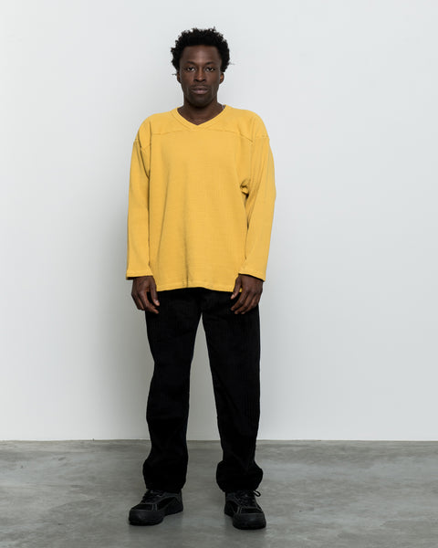 Thermal Football Sweatshirt - Spicy Mustard