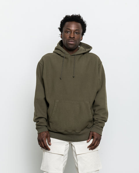 Hooded Pullover Sweatshirt - Deep Olive