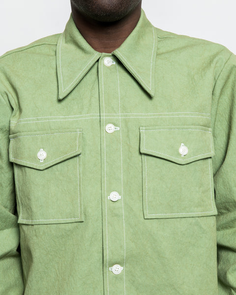 Rodeo Shirt - Lime Sun Dried Canvas