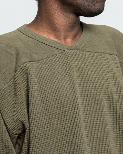 Thermal Football Sweatshirt - Deep Olive