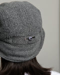 Ear Flap Cap Two - Grey Polar Fleece