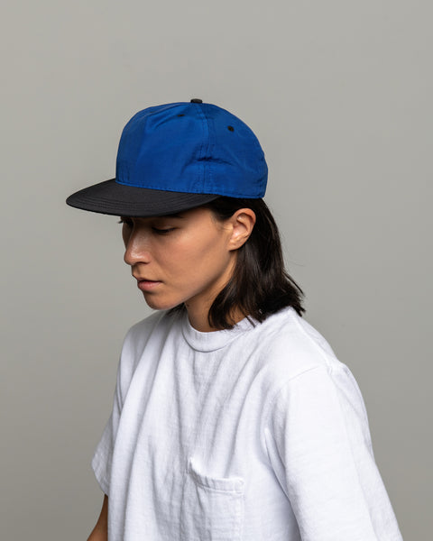 Pleat Cap - Royal / Black Grosgrain