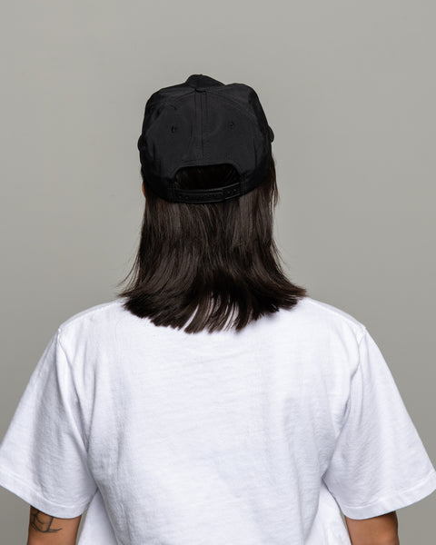 Pleat Cap - Black Grosgrain