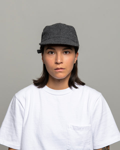 Floppy Ball Cap - Grey Wool Twill