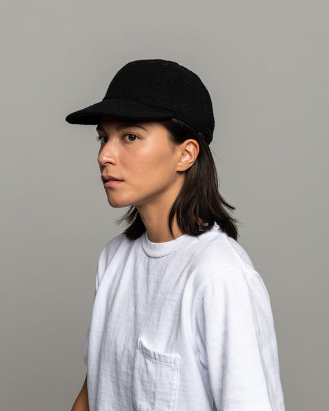 Floppy Ball Cap - Black Wool Twill