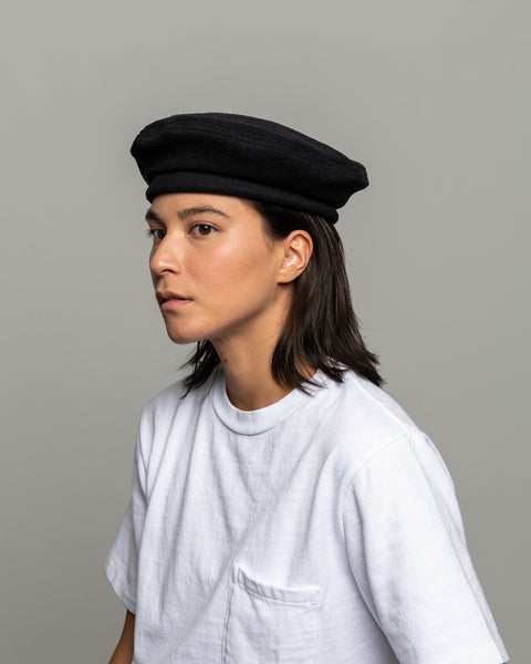 Beret - Black Polar Fleece