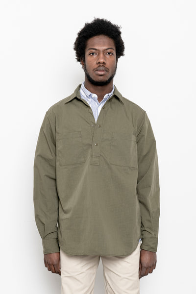 paa - LS Popover Shirt Two - Olive Ripstop
