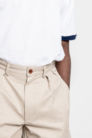 paa - Double Pleat Shorts - Khaki