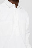paa - LS Popover Shirt Two - White Ripstop