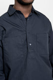 paa - LS Popover Shirt Two - Navy Ripstop
