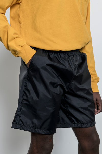 paa - Windbreaker Shorts - Black Taffeta