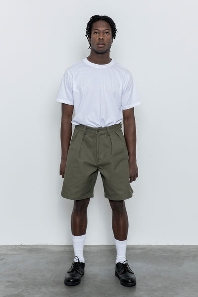 paa - Double Pleat Short - Olive Canvas