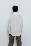LS Popover Shirt Two - Ecru / Black Stripe - paa