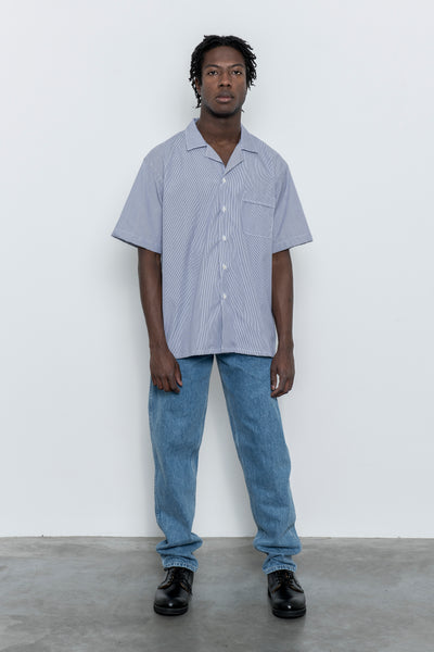paa - SS Shirt Two - Navy Micro Stripe