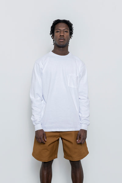 paa - LS Pocket Tee - White