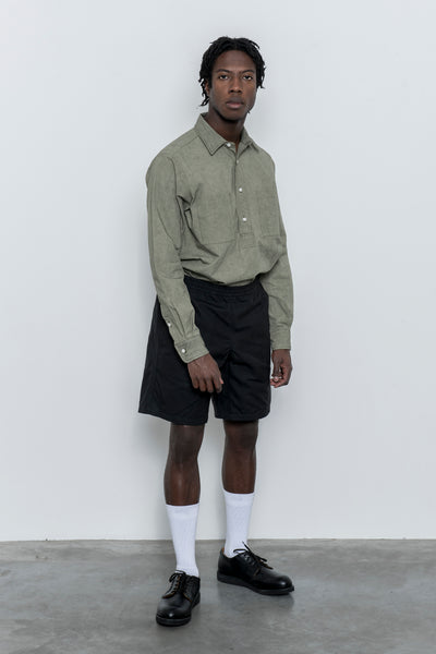 paa - Shorts - Black Waxed Cotton