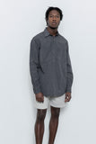 paa - LS Popover Shirt Two - Charcoal