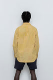 paa - LS Popover Shirt Two - Canary / White Stripe