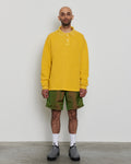 paa - LS Polo Sweatshirt - Beeswax Pique Fleece