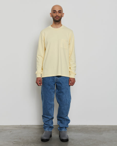 paa - LS Pocket Tee - Pale Yellow