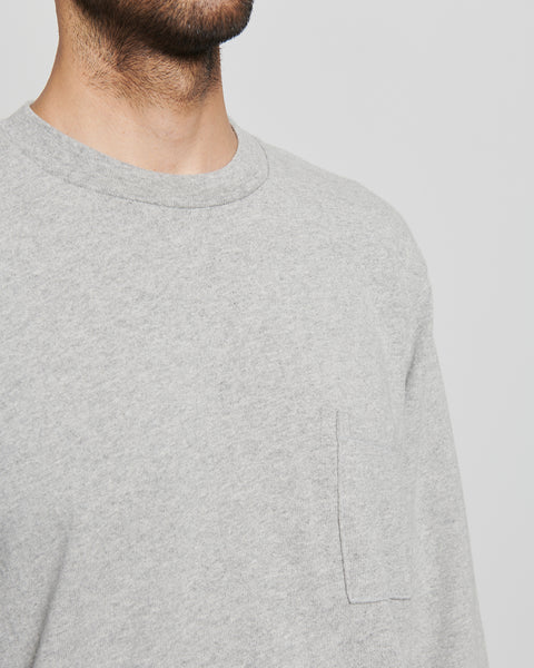 paa - LS Pocket Tee - Heather Grey