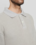 paa - LS Polo Sweatshirt - Grey Pique Fleece