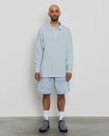 paa - LS Polo Sweatshirt - Baby Blue Pique Fleece