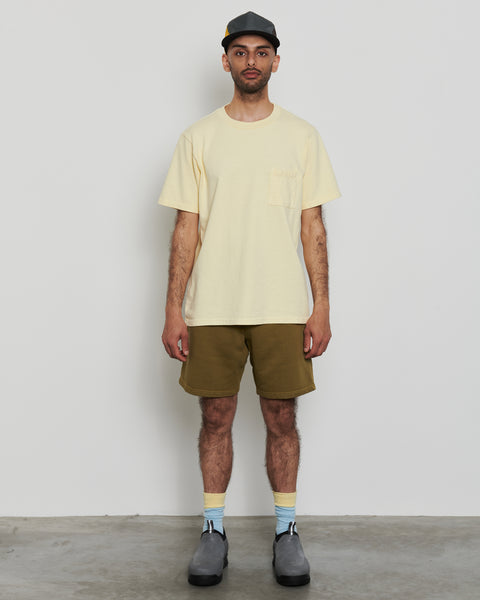 paa - SS Pocket Tee - Pale Yellow