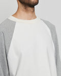 paa - LS Baseball Tee - White / Heather Grey