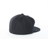 Melton Fitted Pleat Cap - Black