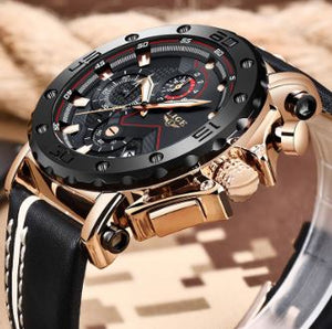 TOP BRAND CHRONOGRAPH WATER-RESISTANT SPORT WATCH