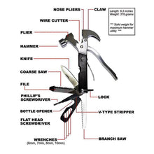 Load image into Gallery viewer, Tac tool  stainless steel multi-function hammer survival tool