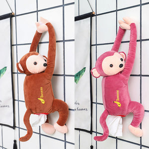 Cute Hanging Monkey Tissue Holder